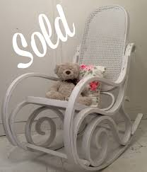 shabby chic bentwood style rocking chair