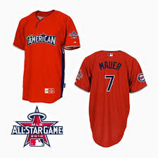 7 Game Mauer Joe Mlb All-star Red Jersey Collection