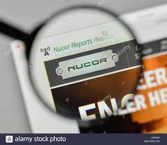 milan italy november 1 2018 nucor logo on the homepage
