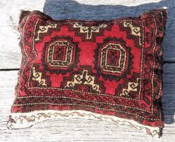 vintage oriental rug pillow red hand knotted carpet cover cushion throw red