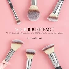 did you know that all it cosmetics brushes are vegan and free