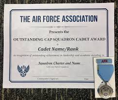 Afas Cap Outstanding Squadron Cadet Recognition Civil Air Patrol