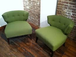 Resideinc.com Pair USA Vintage Slipper Chairs