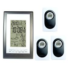 sharp weather station. wireless weather station rf rcc with indoor outdoor thermometer hygrometer forecast dykie alarm clock 3 sharp