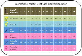 Xtratuf Boot Conversion Chart Mens To Womens Boot Sizes