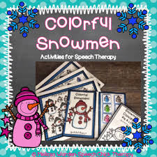 Colorful Snowmen Activities For Speech Therapy