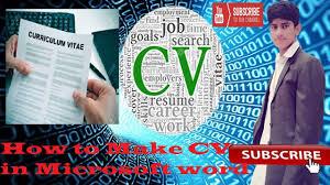 How To Make Cv In Microsoft Word Full Urdu Hindi Step By Step