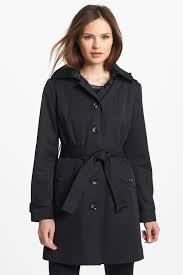 image of michael michael kors trench coat with detachable hood regular petite