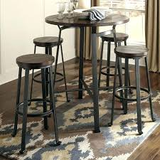 pub table and chairs small round bar height kitchen for set