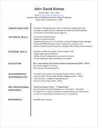 Cover Letter Standard Resume Format Template Standard Resume Format