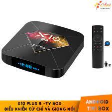 Android tivi box X10 Plus 4GB RAM có kèm điều khiển cử chỉ và giọng nói  tiếng Việt android 9.0 cài sẵn ứng dụng miễn phí