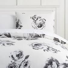 the emily meritt bed of roses duvet cover sham black white pbteen