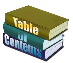 Image result for table of contents
