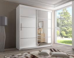 gloss doors wardrobe white high wardrobes gloria