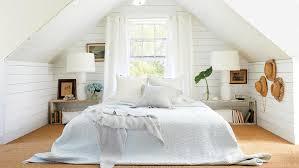 White furniture bedrooms Shabby Chic Shiplap Loft Bedroom Nebraska Furniture Mart 40 Beautiful Beachy Bedrooms Coastal Living