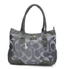 New Coach Fashion Signature Medium Grey Satchels Btz Sale UK rRfLU