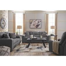 ashley furniture narzole living room set in dark grey