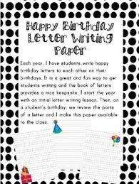 happy birthday letter writing paper bie tpt happy birthday letter writing paper bie