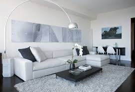 splashy grey shag rug in living room modern with dark floor white wall next to rug on alongside loft apartment and art above sofa living room rugs45 rugs