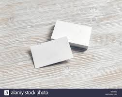 Blank Business Card Template Blank Business Cards Template On Light Wood Table Background