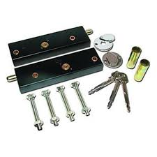 asec garage door bolt locks for extra security one pair operated on same key