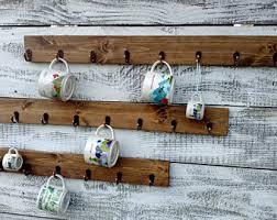 reclaimed wood mug rack urban rustic. Coffee Cup Holder, Rack, Hook Mug Holder Reclaimed Wood Rack Urban Rustic L