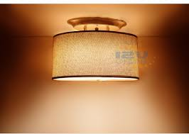 led 12v brown fabric shade dinette ceiling light rv boat hall bedroom ww