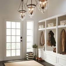 kichler lighting belleville 15 51 in w olde bronze pendant light with clear shade at
