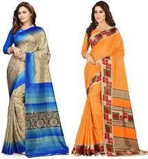 Makeover Saree Designs Fab Makeover Womens Art Silk Designer Saree With Blouse