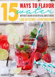 15 ways to flavor water
