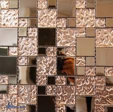 copper glass mosaic tile