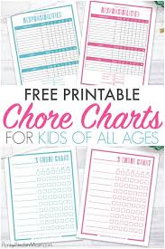 The Best Way To Make A Chore Chart In 2019 Free Printable