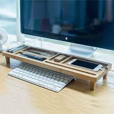 wooden keyboard rack desktop accessories storage desk organizer holder shelf by gardenxhk on