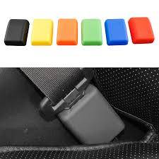 universal car seat belt buckle protective cover silica gel 6 colors anti scratch dust prevention