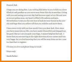 6 Goodbye Love Letter Sample Trinity Training