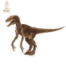 3d puzzle dinosaur diy raptor model paper craft kids cardboard animal toys velociraptor cool best