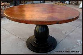 amazing copper top tables modern round dining table wood pedestal base 1 12 inside round dining table pedestal base modern