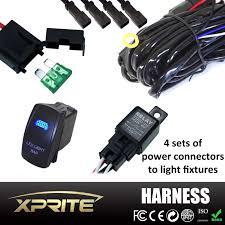 4 leg atv jeep led light bar wiring harness relay on off laser xprite®4 leg atv jeep led light bar wiring harness relay on off laser rocker switch