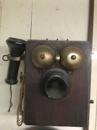 antique vintage wall telephone rotary