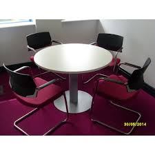 small round meeting table