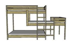 bunk bed with stairs plans. The Triple Bunk Bed Frame Design Bunk Bed With Stairs Plans