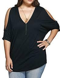 Allegrace Size Chart Allegrace Women Plus Size Tops V Neck Short Sleeve Batwing