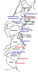 Revolutionary War Battles Map American Revolution Battles