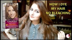 Revlon 54 Light Golden Brown How I Dye My Hair At Home Dark To Light Brown Revlon Colorsilk
