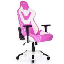 chairs gaming chair akracing ak cp pink white 3