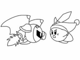 Kirby coloring pages printable new meta knight coloring pages