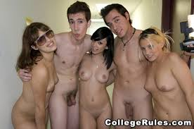 Naked drunk college coeds running