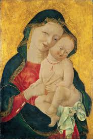 master of the winking eyes madonna and child ca 1450
