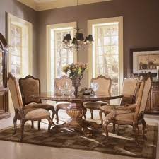 Formal Dining Room Sets For  Classic Modern White Leather Fabric - Modern white dining room sets
