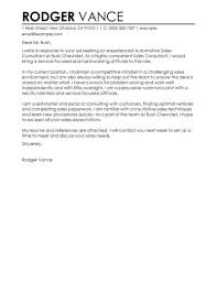 Sales Consultant Cover Letter Sample Cover Letters Livecareer Com
